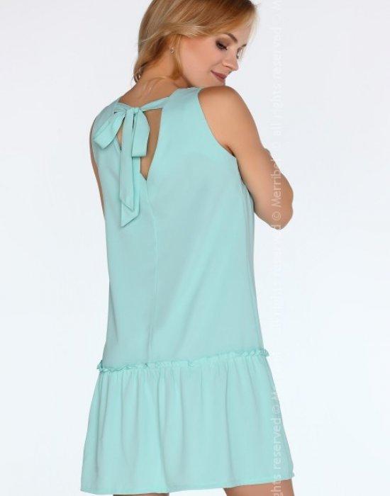 Ежедневна мини рокля в цвят мента Nixolna, Merribel, Къси рокли - Modavel.com