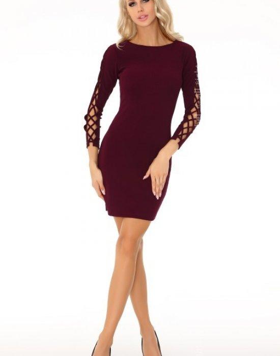Елегантна къса рокля в цвят бордо Merciana, Merribel, Къси рокли - Modavel.com
