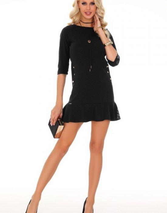 Ежедневна къса рокля в черно Marima, Merribel, Къси рокли - Modavel.com