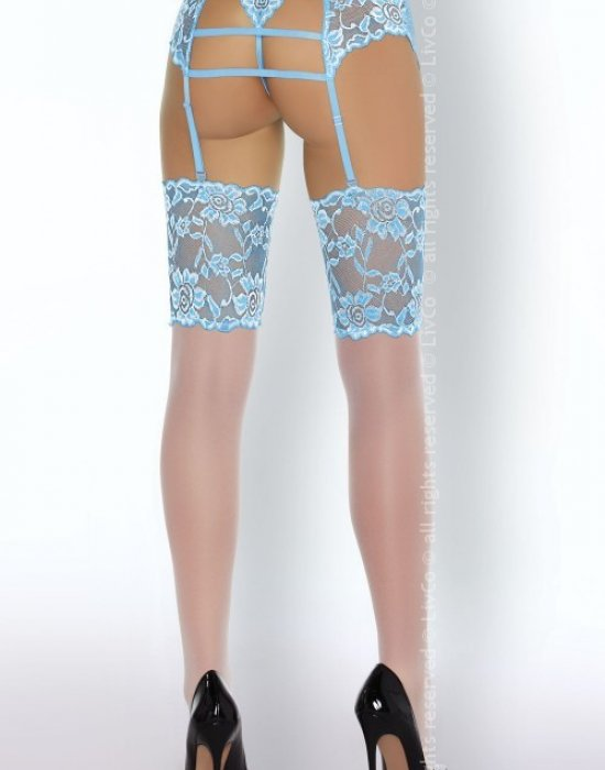 Еротичен сет от четири части в синьо Acarin, LivCo Corsetti Fashion, Комплекти - Modavel.com