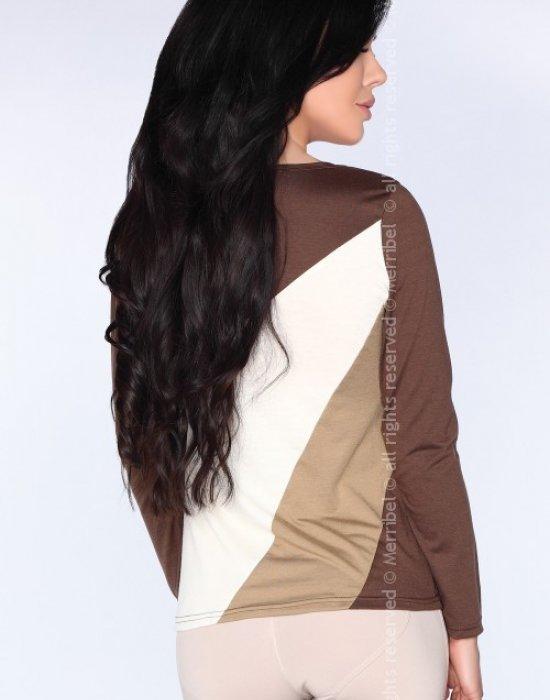 Дамска блуза в кафяв цвят CG032, Merribel, Блузи / Топове - Modavel.com