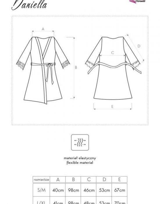 Секси халат в прасковен цвят Daniella, LivCo Corsetti Fashion, Секси Халати - Modavel.com