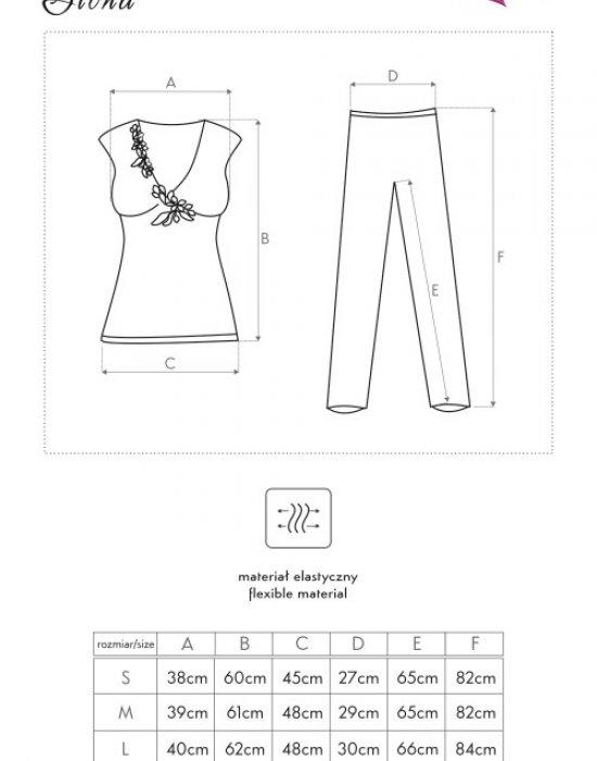 Елегантна дамска пижама в черно Siona, LivCo Corsetti Fashion, Пижами - Modavel.com