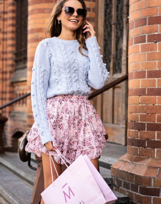 Къса дамска пола с флорални мотиви Perlen