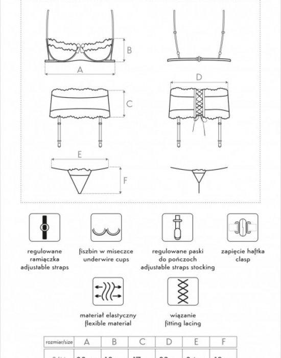 Секси комплект от три части Sargerita, LivCo Corsetti Fashion, Комплекти - Modavel.com