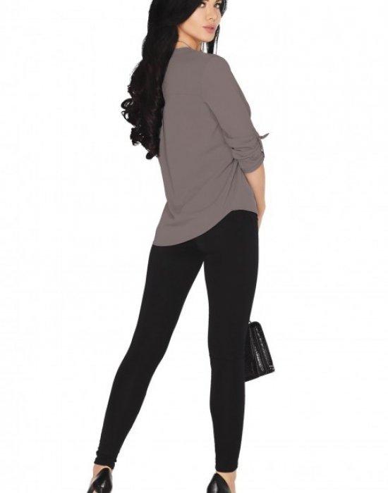 Дамска сива блуза с 7/8 ръкав Cayley, Merribel, Блузи / Топове - Modavel.com