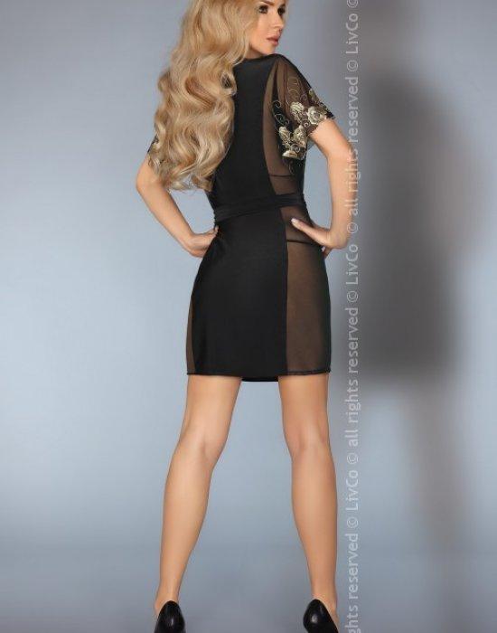 Секси халат в черен цвят Amaretta, LivCo Corsetti Fashion, Секси Халати - Modavel.com