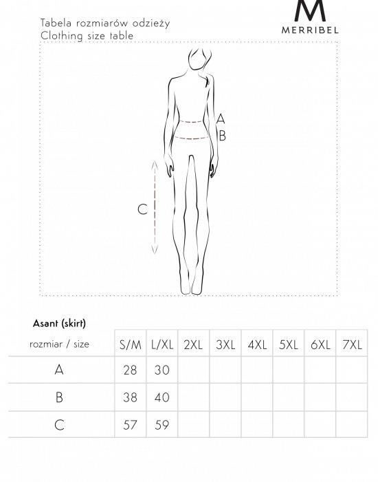 Дамски комплект в черен цвят Asant, Merribel, Поли - Modavel.com