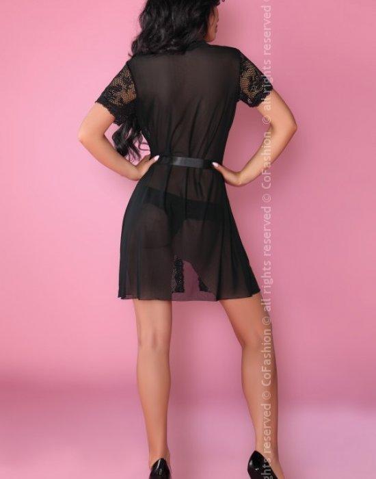 Еротичен халат с прашки в черно Bates, CoFashion, Комплекти - Modavel.com