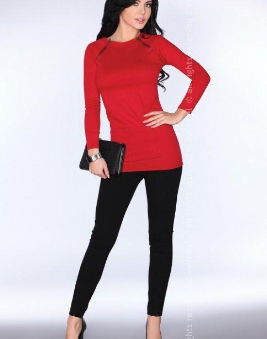 Дамска туника в червен цвят CG025, Merribel, Туники - Modavel.com