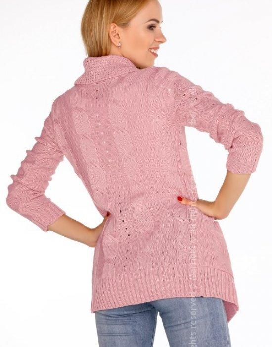 Отворена дамска жилетка в розово Jimie, Merribel, Връхни - Modavel.com