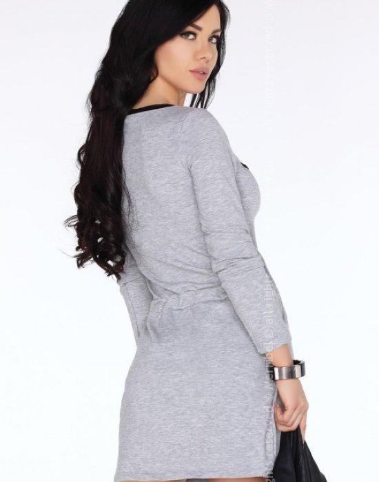 Ежедневна къса рокля в сиво CG681, Merribel, Къси рокли - Modavel.com