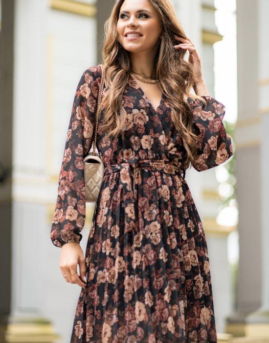 Ефирна дамска рокля в принт на цветя Barunna, Merribel, Къси рокли - Modavel.com