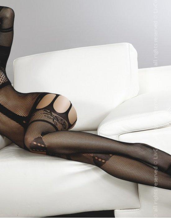 Целокупно боди в черен цвят Corra, LivCo Corsetti Fashion, Целокупни бодита - Modavel.com