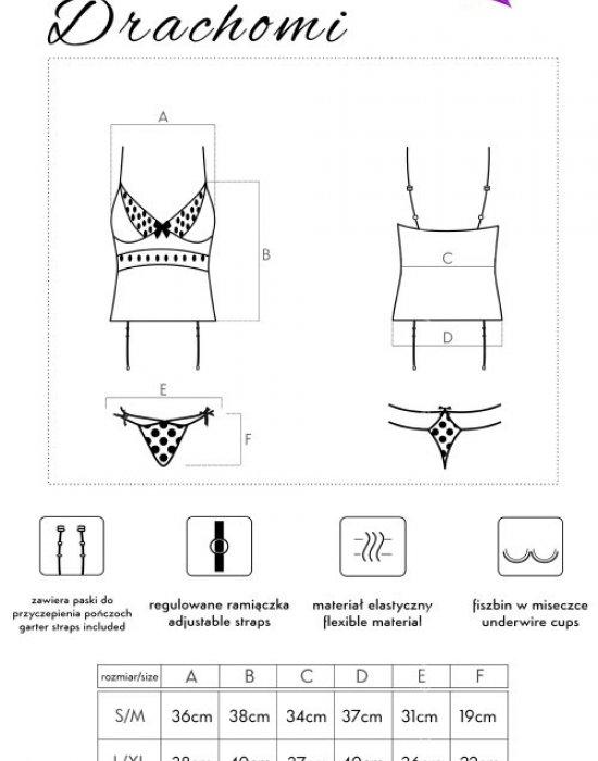 Секси корсет с прашки в черно Drachomi, LivCo Corsetti Fashion, Корсети - Modavel.com