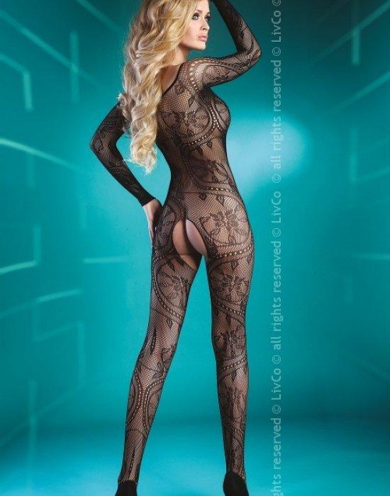 Целокупно боди в черен цвят Abra, LivCo Corsetti Fashion, Целокупни бодита - Modavel.com