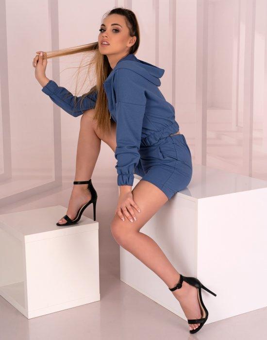 Комплект от две части в син цвят Leneves D05, Merribel, Блузи / Топове - Modavel.com