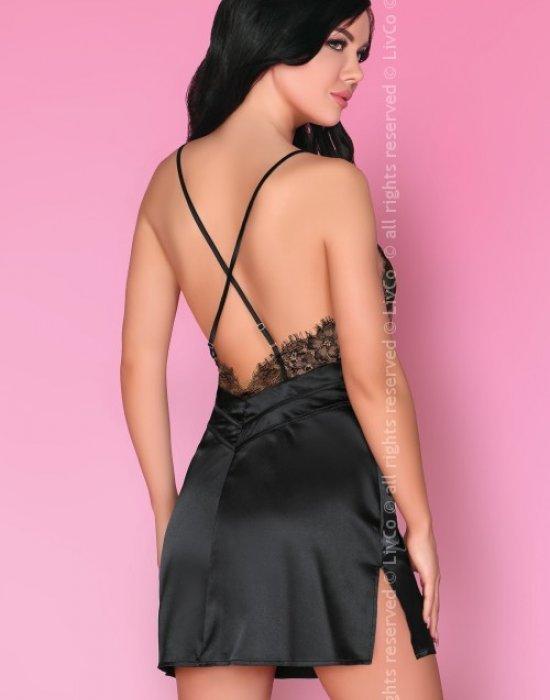 Секси нощница с прашки Emiliana, LivCo Corsetti Fashion, Комплекти - Modavel.com
