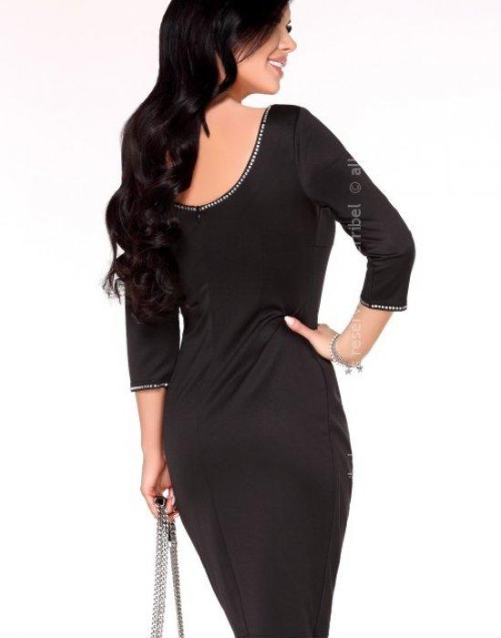 Елегантна миди рокля в черно Arleen, Merribel, Миди рокли - Modavel.com