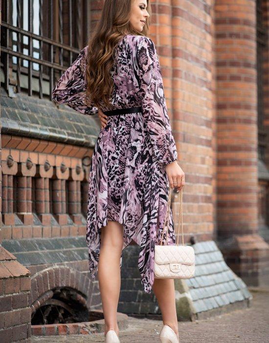 Ефирна дамска рокля Suriani, Merribel, Миди рокли - Modavel.com