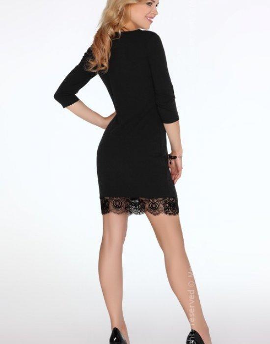 Елегантна къса рокля в черно Beverlem, Merribel, Къси рокли - Modavel.com