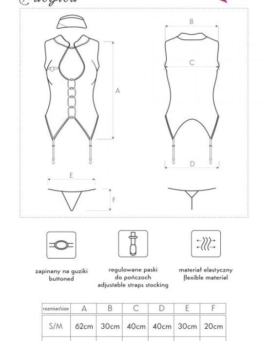 Секси костюм на стюардеса Pacifica, LivCo Corsetti Fashion, Костюми - Modavel.com