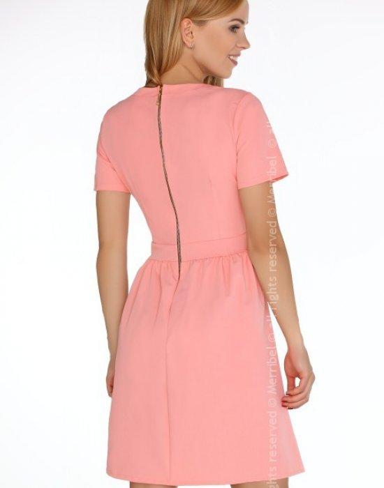 Елегантна мини рокля с къс ръкав Marelna, Merribel, Къси рокли - Modavel.com