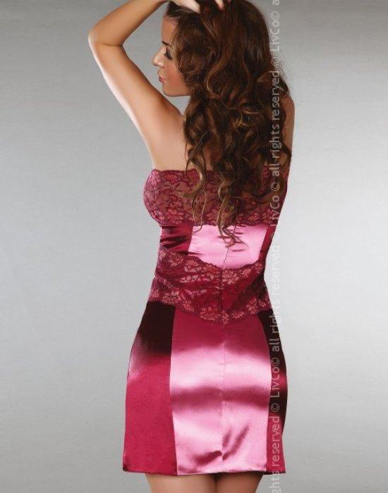 Еротична сатенена нощница с прашки Priya, LivCo Corsetti Fashion, Комплекти - Modavel.com