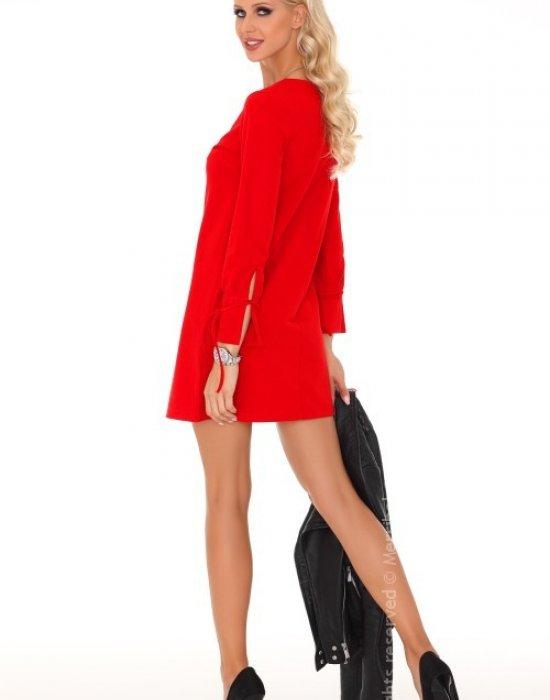 Ежедневна мини рокля в червено Mariabela, Merribel, Къси рокли - Modavel.com