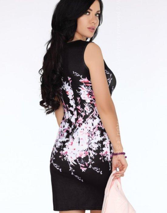 Елегантна къса рокля в черно  Josunesa, Merribel, Къси рокли - Modavel.com