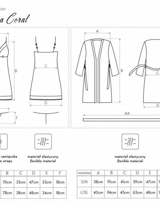 Секси комплект от три части в цвят корал Luisanna, LivCo Corsetti Fashion, Комплекти - Modavel.com