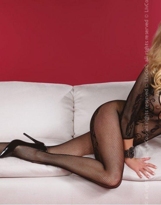 Целокупно боди в черен цвят Amani, LivCo Corsetti Fashion, Целокупни бодита - Modavel.com