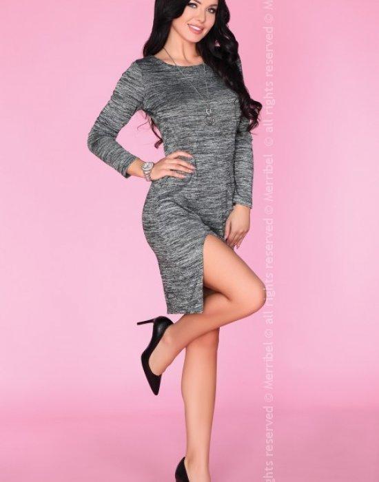Ежедневна мини рокля в сив цвят Agnisam, Merribel, Къси рокли - Modavel.com