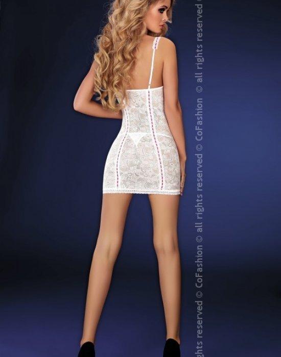 Секси нощница с прашки в бяло Charles, CoFashion, Комплекти - Modavel.com