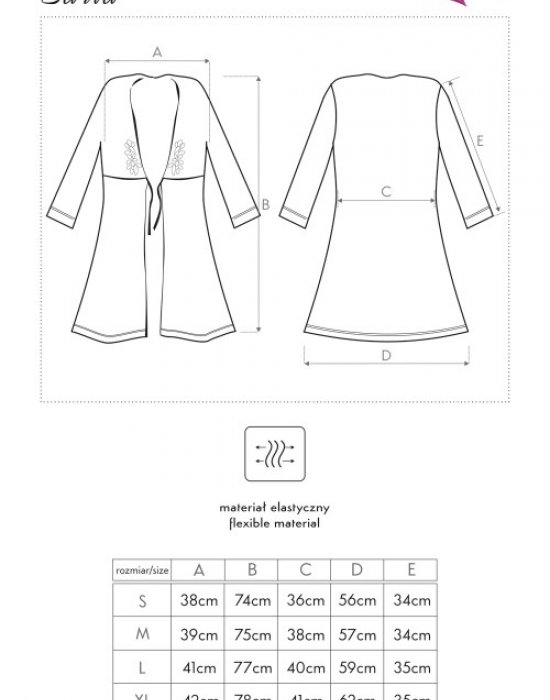 Еротичен халат в черен цвят Zaria, LivCo Corsetti Fashion, Секси Халати - Modavel.com