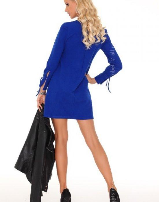 Ежедневна мини рокля в синьо Mariabela, Merribel, Къси рокли - Modavel.com