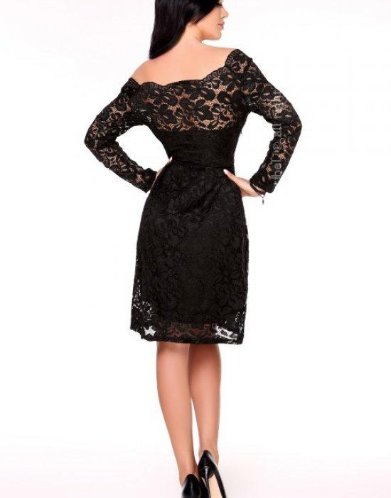 Елагантна миди рокля в черно Caramia, Merribel, Миди рокли - Modavel.com