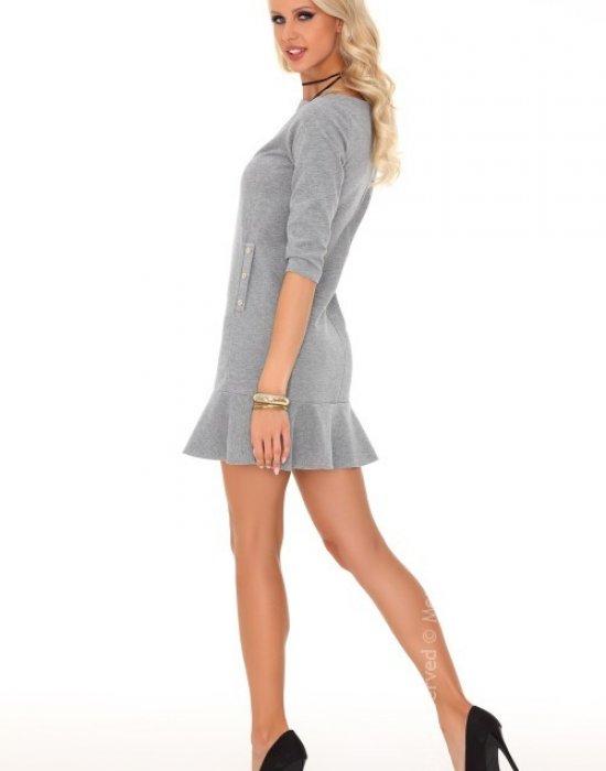 Ежедневна къса рокля в сиво Marima, Merribel, Къси рокли - Modavel.com