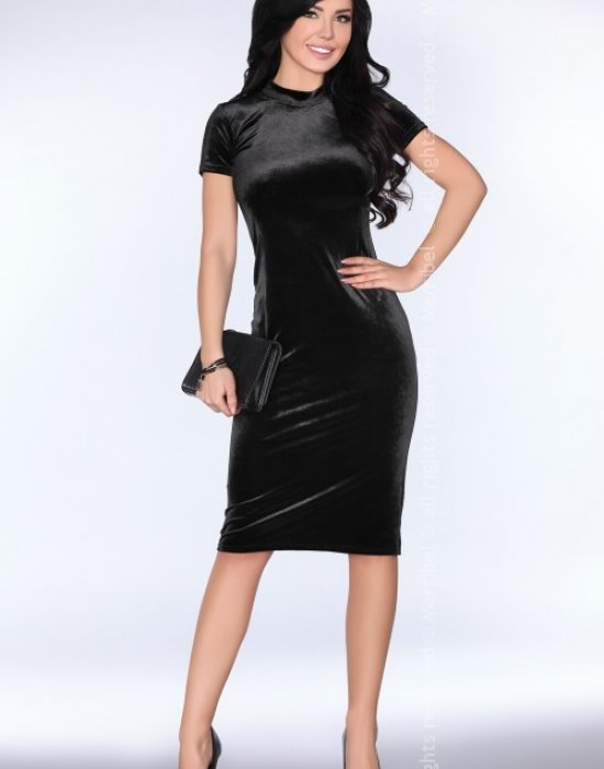 Елегантна миди рокля в черно Prudenca, Merribel, Миди рокли - Modavel.com