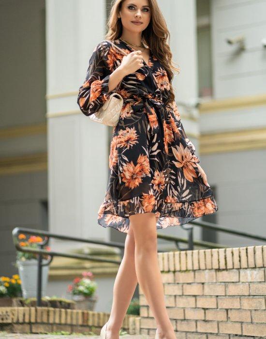 Ефирна дамска рокля Rumita, Merribel, Къси рокли - Modavel.com
