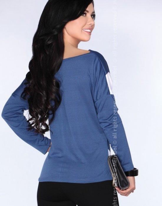 Елегантна дамска блуза в синьо CG004, Merribel, Блузи / Топове - Modavel.com