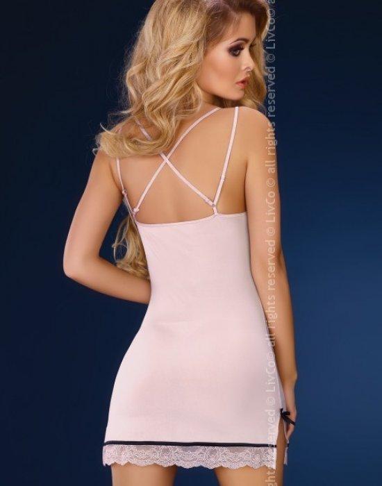 Секси нощница с прашки в розово Leslie, LivCo Corsetti Fashion, Комплекти - Modavel.com