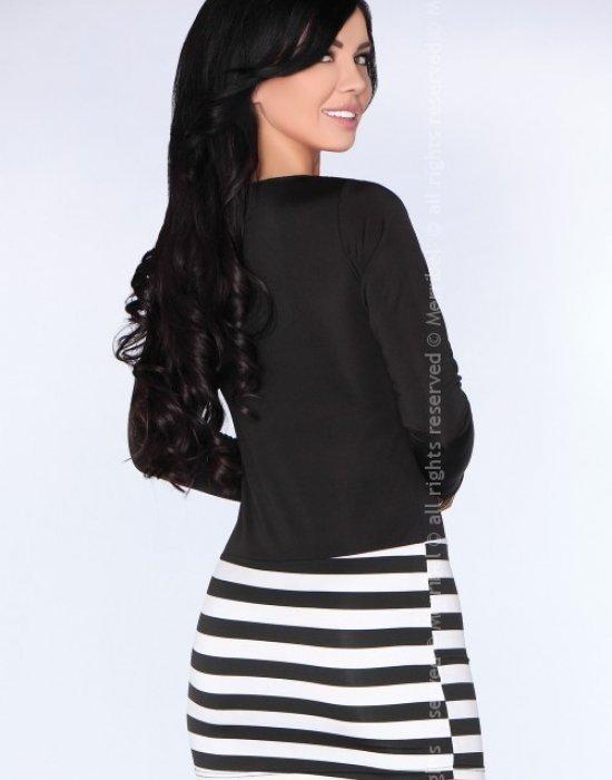 Ежедневна къса рокля в черно CG021, Merribel, Къси рокли - Modavel.com