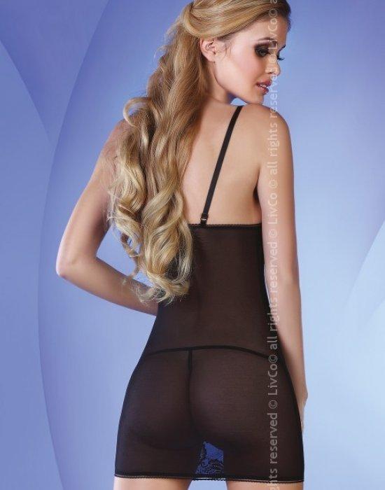 Секси нощница с прашки в черно Pankhudi, LivCo Corsetti Fashion, Комплекти - Modavel.com