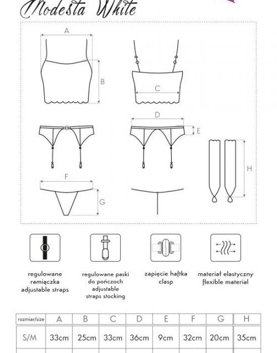 Секси комплект от четири части Modesta, LivCo Corsetti Fashion, Комплекти - Modavel.com