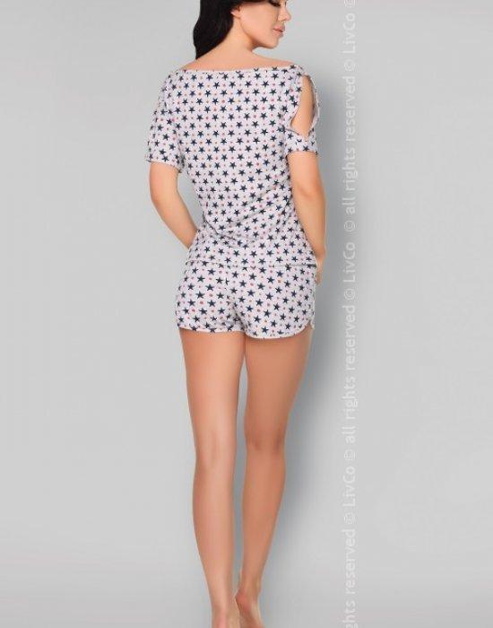 Лятна памучна пижама Mareike, LivCo Corsetti Fashion, Пижами - Modavel.com