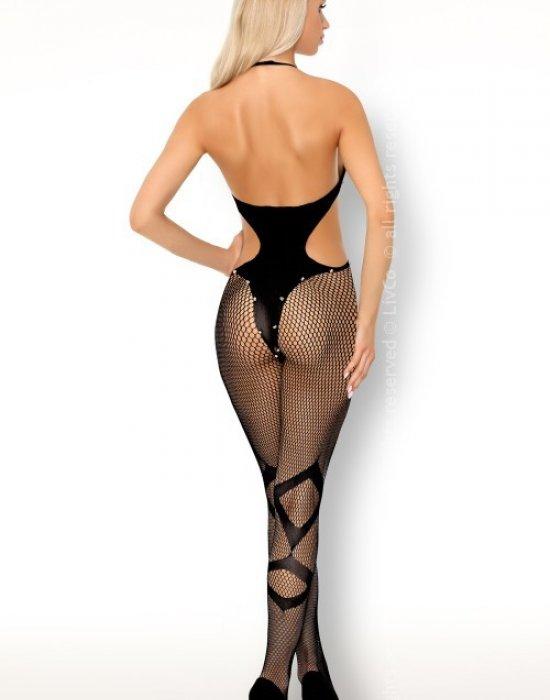 Целокупно боди в черен цвят Bituinam, LivCo Corsetti Fashion, Целокупни бодита - Modavel.com