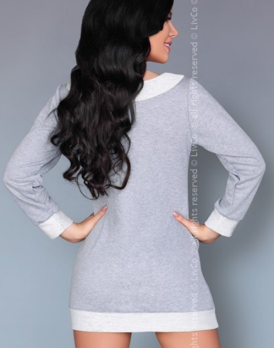 Дамска блуза в сиво Maristela, LivCo Corsetti Fashion, Блузи / Топове - Modavel.com