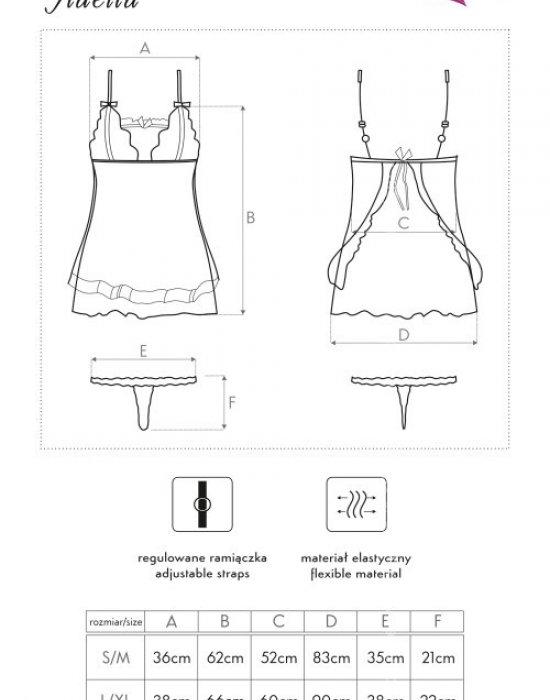 Еротичен сет от две части Fidelia, LivCo Corsetti Fashion, Комплекти - Modavel.com