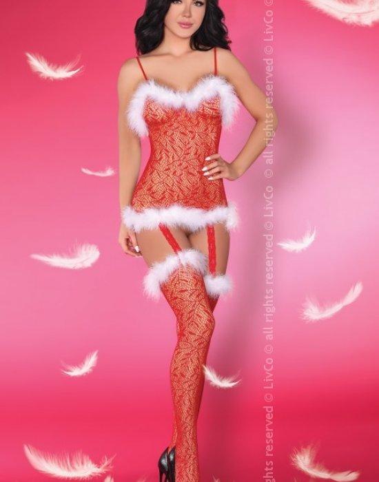 Секси коледно боди Catriona Christmas, LivCo Corsetti Fashion, Коледни - Modavel.com